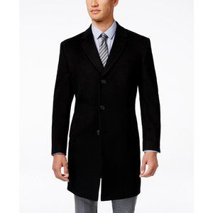 NWT 40R Kenneth Cole Wool Blend Slim Fit Over Coat